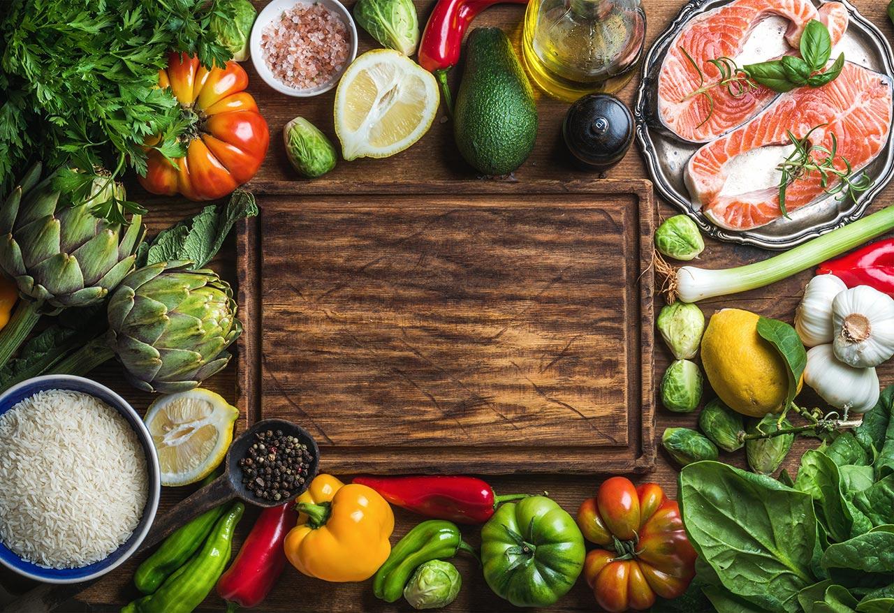 fresh gourmet ingredients